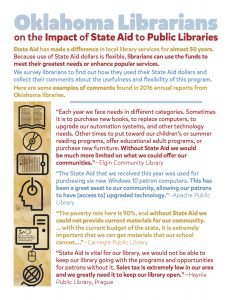 State Aid Flyer for 2017 Oklahoma Legislative Session