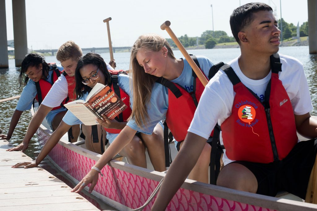 Young People on a Boat with Books